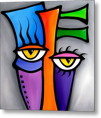 Peepers Metal Print by Tom Fedro - Fidostudio