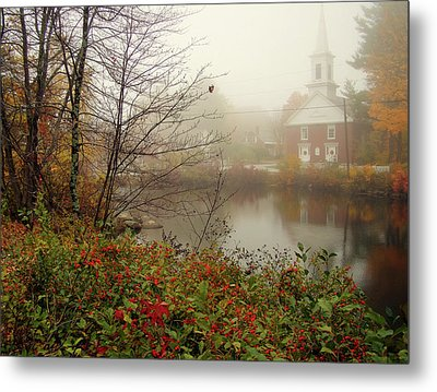 Foggy Glimpse Metal Print by Betsy Zimmerli