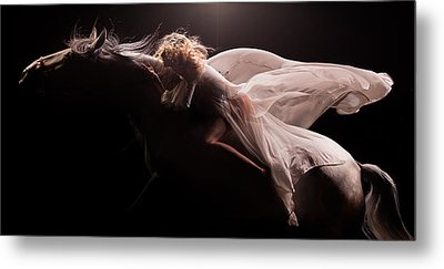 Metal Print featuring the photograph Pegasus by Dario Infini