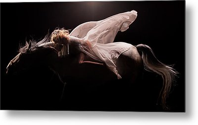 Metal Print featuring the photograph Pegasus Full by Dario Infini