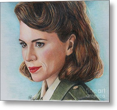 Peggy Carter / Hayley Atwell Metal Print