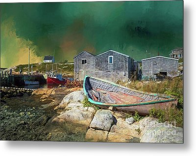 Peggy's Cove Metal Print by Eva Lechner