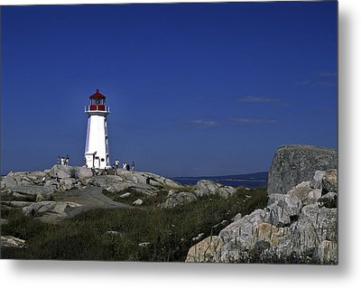 Peggy's Cove Lighthouse Metal Print by Sally Weigand
