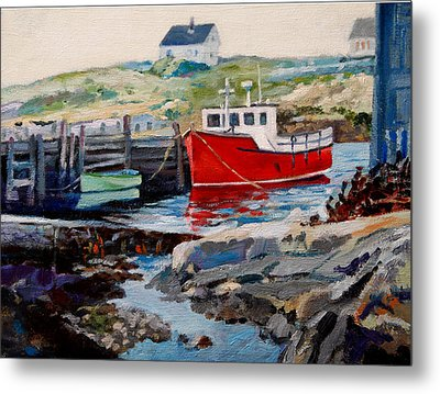 Peggys Cove Metal Print by Michael McDougall