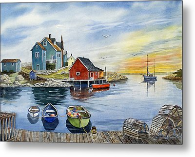 Peggys Cove  Metal Print by Raymond Edmonds