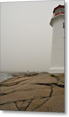 Peggy's Lighthouse Metal Print by Mark Highfield