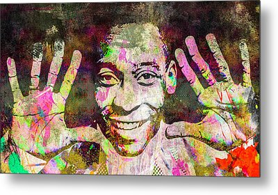 Metal Print featuring the mixed media Pele by Svelby Art