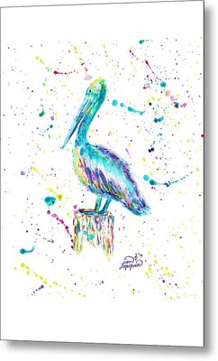 Pelican By Jan Marvin Metal Print