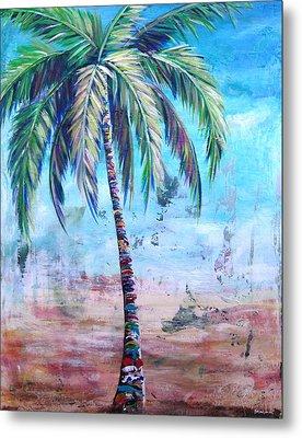 Pelican Palm I Metal Print by Kristen Abrahamson
