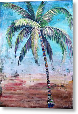 Pelican Palm II Metal Print by Kristen Abrahamson