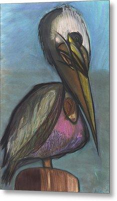Pelican Metal Print by Stu Hanson