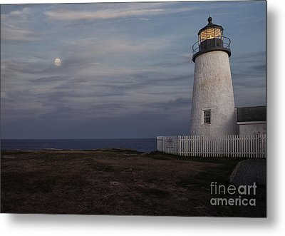 Pemaquid And Full Moon Metal Print by Timothy Johnson