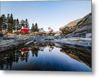 Metal Print featuring the photograph Pemaquid Point Light Reflection by Robert Clifford