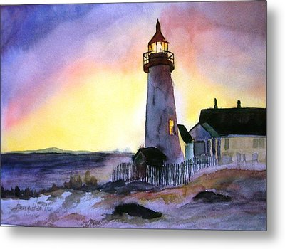 Pemaquid Point Lighthouse Maine Metal Print by Larry Hamilton