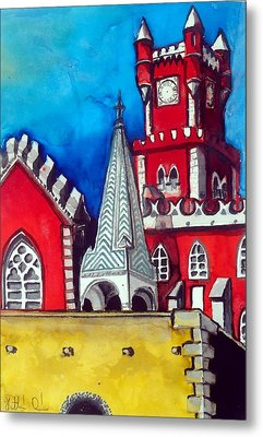 Pena Palace In Portugal Metal Print
