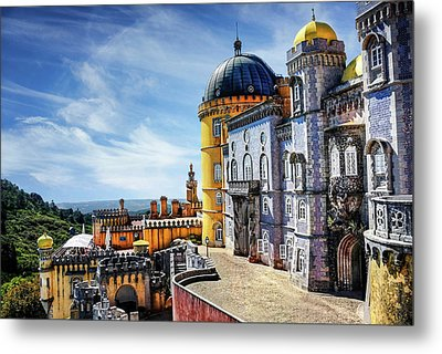 Metal Print featuring the photograph Pena Palace In Sintra Portugal  by Carol Japp