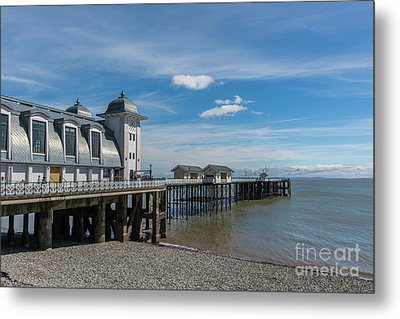 Penarth Pier Glorious Day Metal Print by Steve Purnell