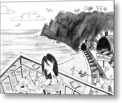 Pencil Drawing - Cartoon Illustration Metal Print