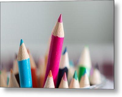 Pencils 4 Metal Print