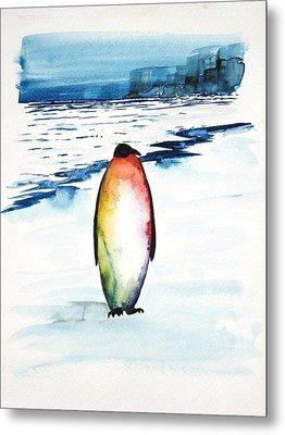 Penguin 1 Metal Print by Carolyn Doe