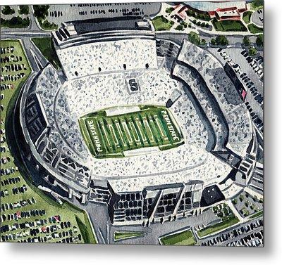 Penn State Beaver Stadium Whiteout Game University Psu Nittany Lions Joe Paterno Metal Print by Laura Row