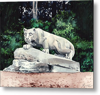 Penn State Nittany Lion Shrine University Happy Valley Joe Paterno Metal Print by Laura Row