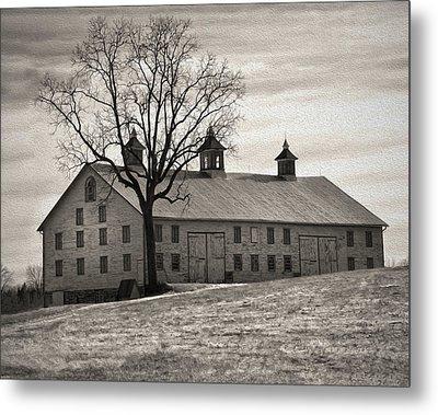Metal Print featuring the digital art Pennsylvania Barn by Robert Geary
