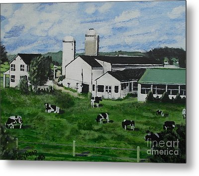 Pennsylvania Holstein Dairy Farm  Metal Print
