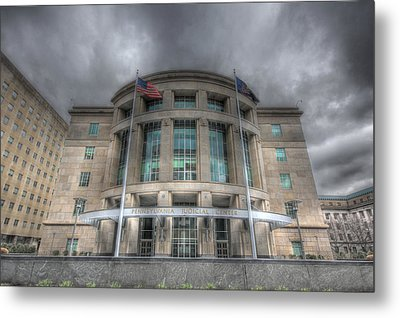 Pennsylvania Judicial Center Metal Print by Shelley Neff