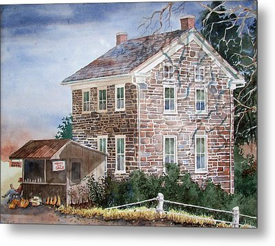 Pennsylvania Roadside Market Metal Print by Tony Caviston