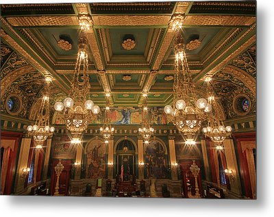 Pennsylvania Senate Chamber Metal Print by Shelley Neff