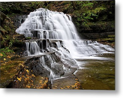 Metal Print featuring the photograph Pennsylvania Waterfall by Christina Rollo