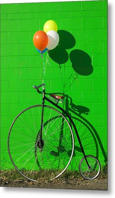 Penny Farthing Bike Metal Print by Garry Gay
