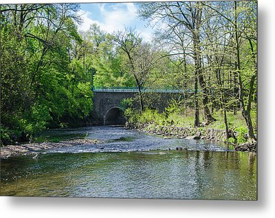 Metal Print featuring the photograph Pennypack Creek Bridge Built 1697 by Bill Cannon