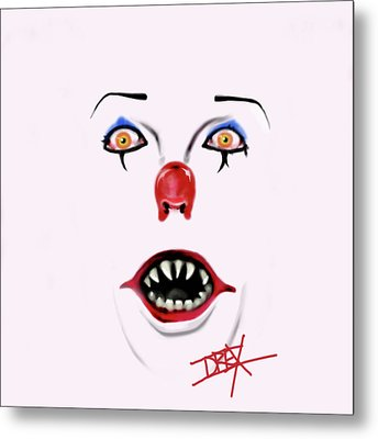 Pennywise The Clown Metal Print by Danielle LegacyArts