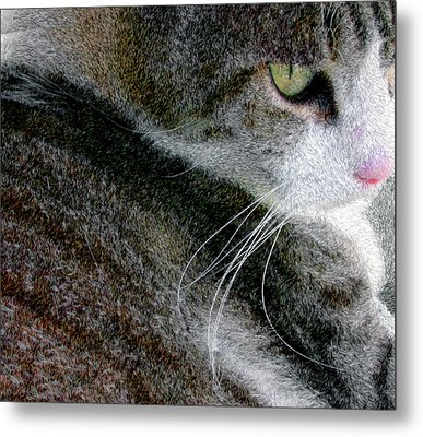 Metal Print featuring the digital art Pensive by Chuck Mountain