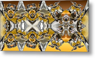 Pentwins Metal Print by Ron Bissett