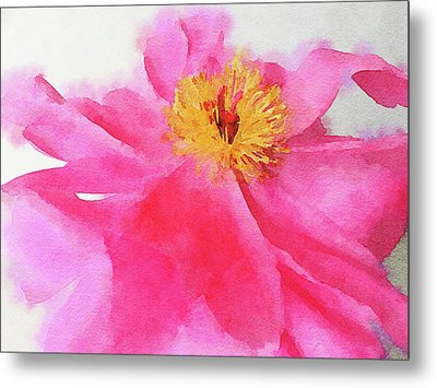 Metal Print featuring the digital art Peony by Mark Greenberg