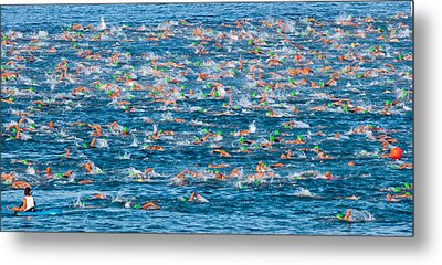 People Competing In The Ford Ironman Metal Print by Panoramic Images