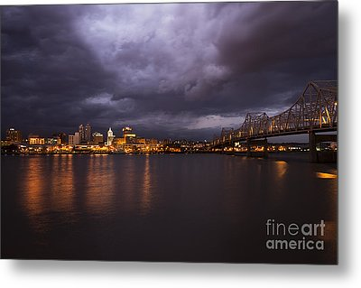 Peoria Dramatic Skyline Metal Print by Andrea Silies