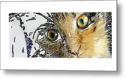 Pepper Eyes Metal Print