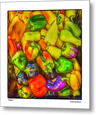 Peppers Metal Print by R Thomas Berner