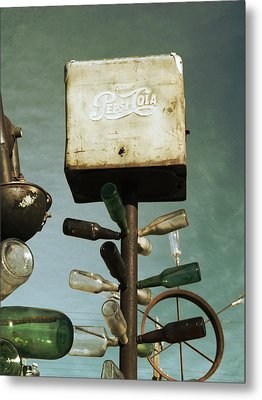 Pepsi Bottle Tree - Route 66 Metal Print by Glenn McCarthy Art and Photography