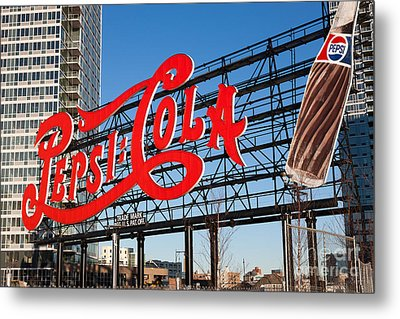 Pepsi-cola Sign I Metal Print by Clarence Holmes