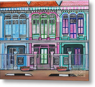 Peranakan Mansion Singapore Metal Print