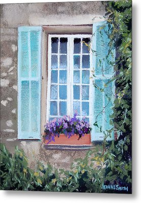 Perched Purples Metal Print by Jeanne Rosier Smith