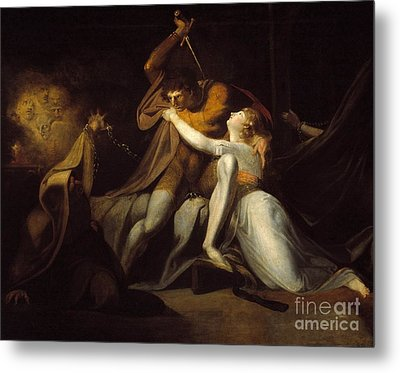 Percival Delivering Belisane From The Enchantment  Metal Print by MotionAge Designs