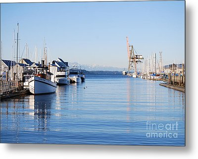 Metal Print featuring the photograph Percival Landing by Larry Keahey