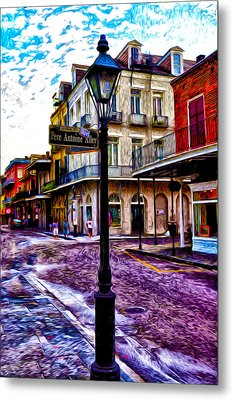 Pere Antoine Alley - New Orleans Metal Print by Bill Cannon