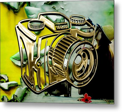 Perfect Shot Camera Collection Metal Print by Marvin Blaine